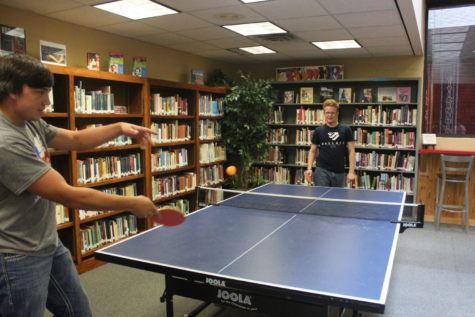 Table Tennis Club puts table in library