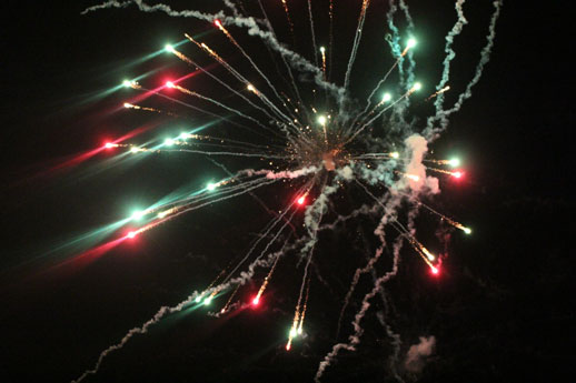 Fireworks at Honor America Night, Nov. 7