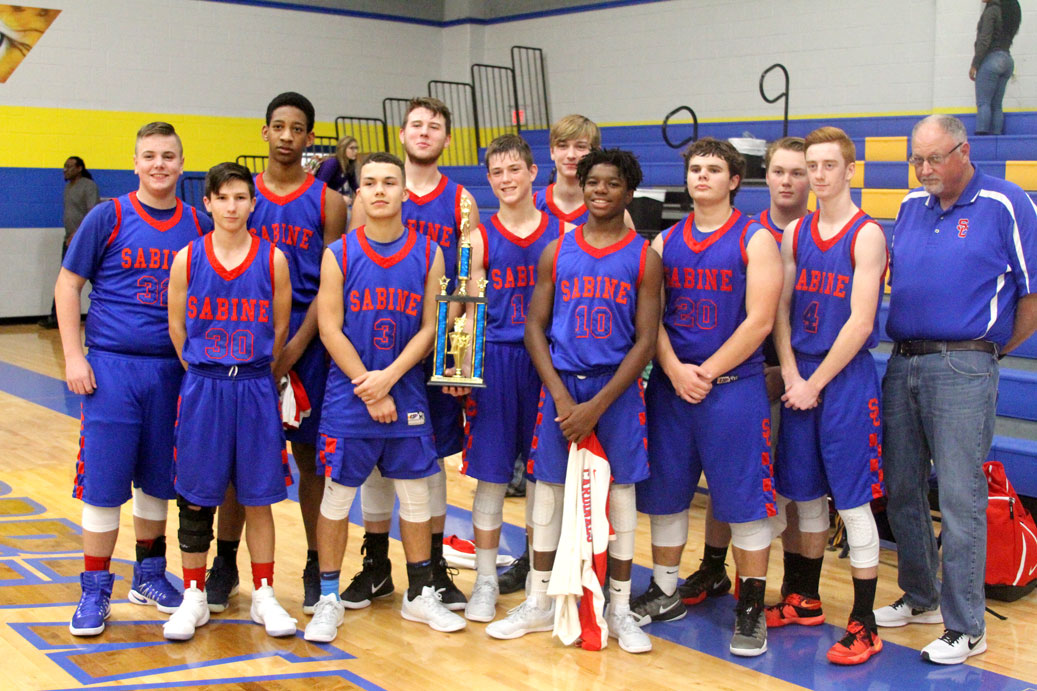 JV Basketball wins the championship of the Big Sandy tournament with a win against Hughes Springs.