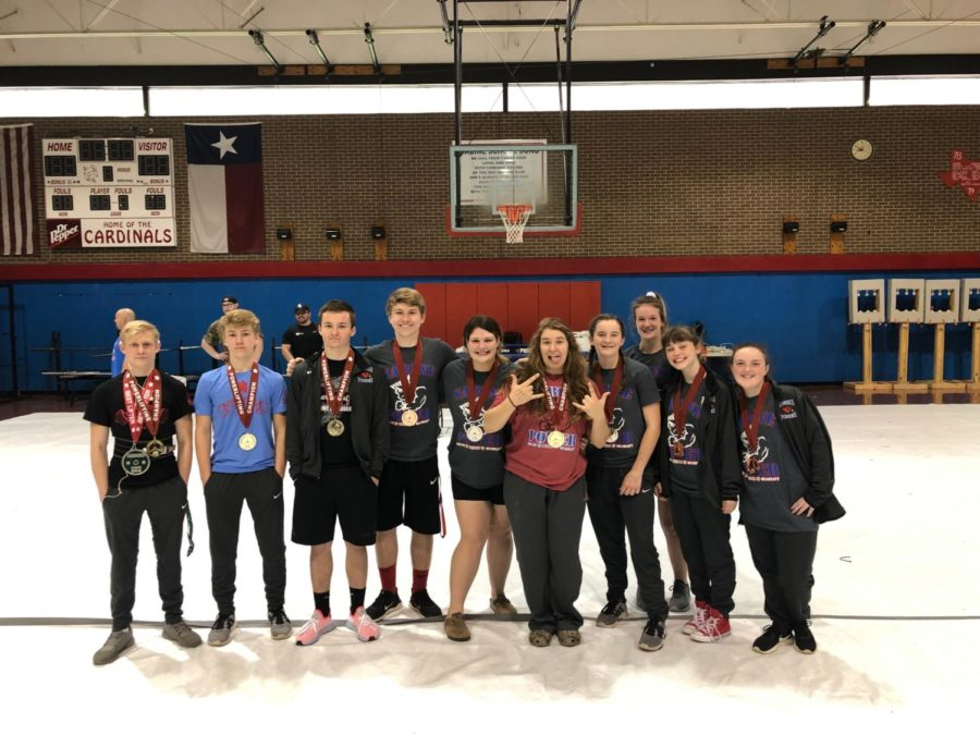 Sabine+hosted+the+Bo+Bates+Invitational+meet+Feb.+2+in+the+middle+school+gym.+Several+individuals+brought+home+medals.