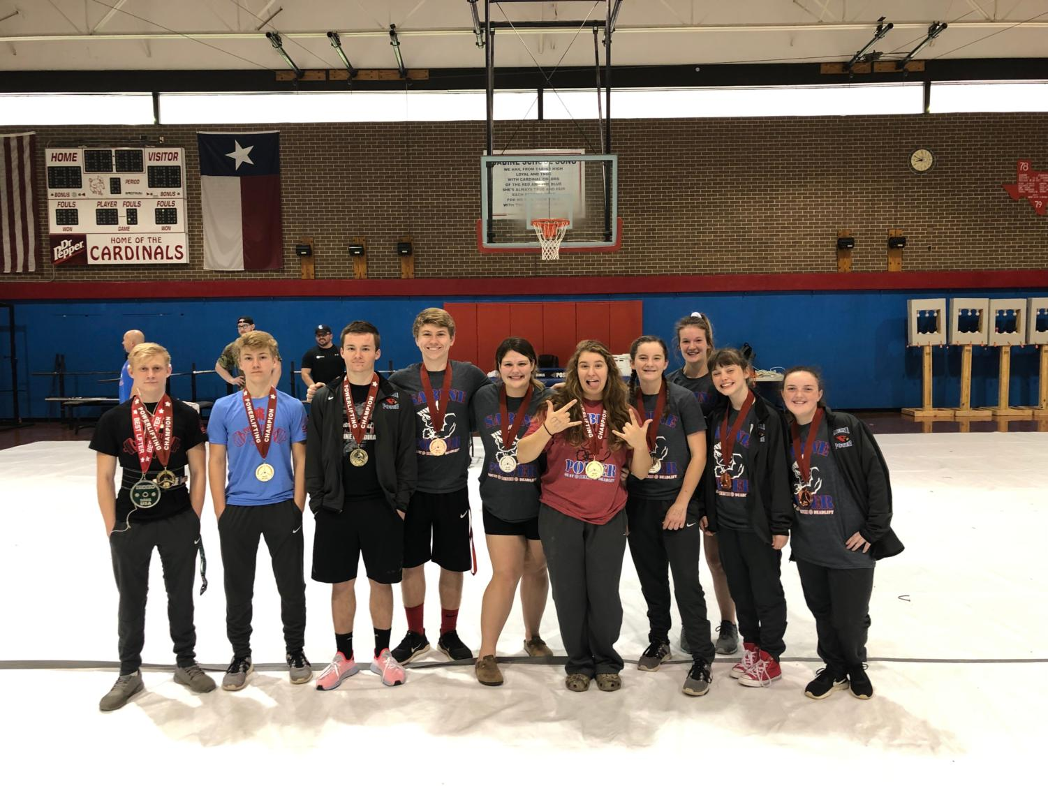 Sabine hosted the Bo Bates Invitational meet Feb. 2 in the middle school gym. Several individuals brought home medals.