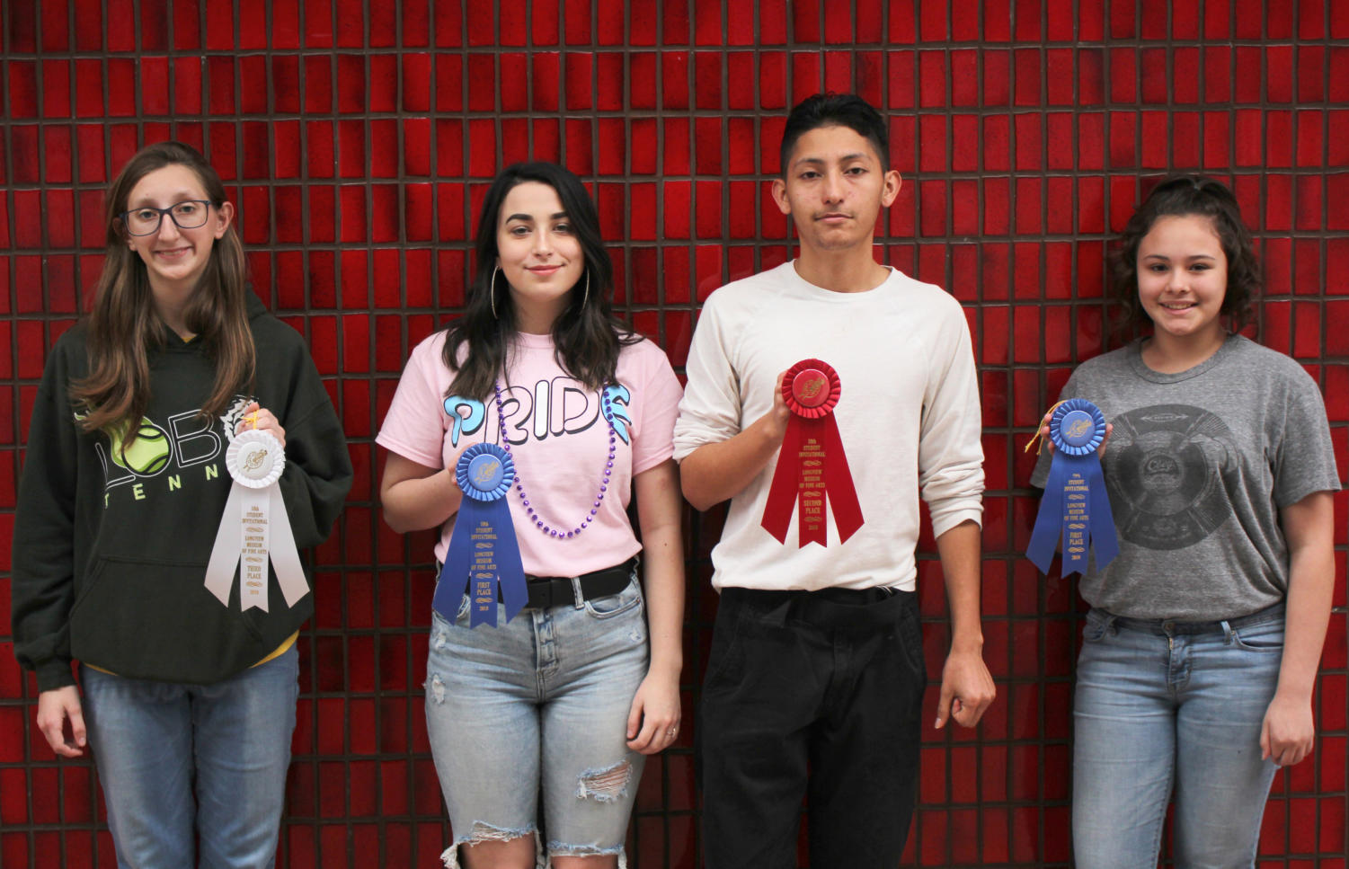 left to right: Sarah Webb, Ariel Swanson, Jorge Santiago, Jade Smith