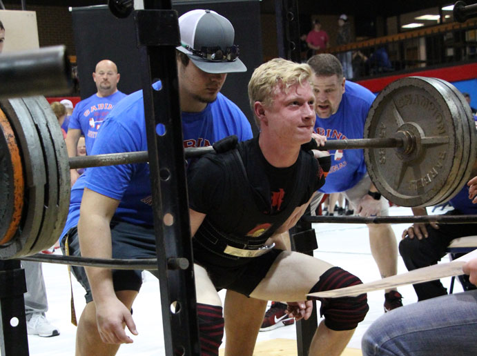 Junior+B.J.+Stidham+seen+competing+at+the+Bo+Bates+Invitational+won+back+to+back+state+championships+in+his+weight+division+March+23.