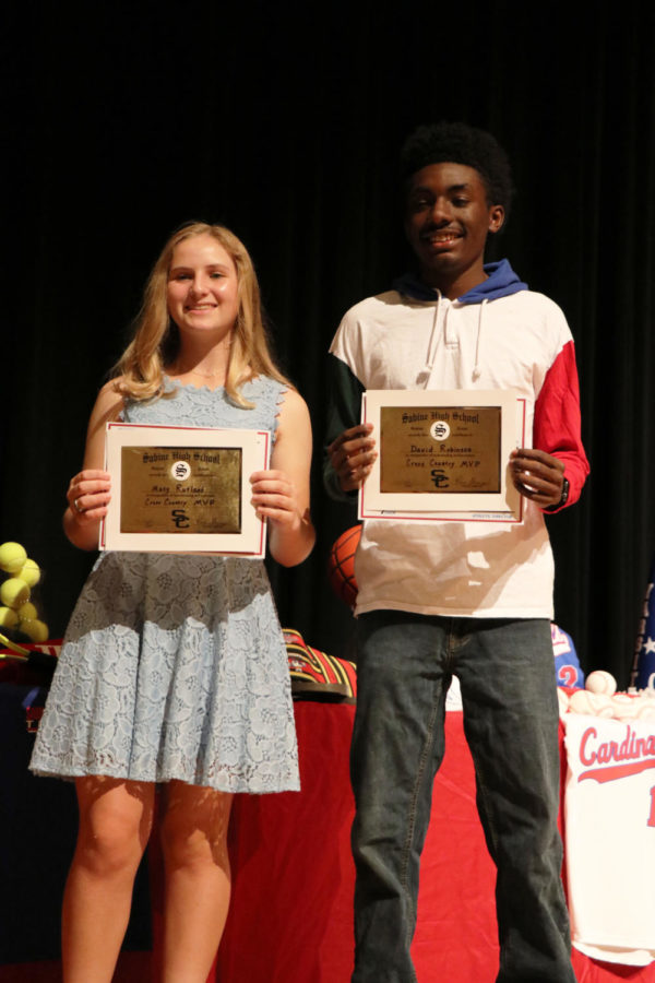 Sabine Cross Country Performers of the Year